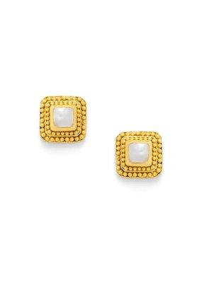 Julie Vos Julie Vos Luxor Stud Earrings Shell Pearl