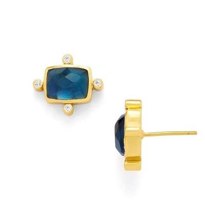 Julie Vos Julie Vos Clara Stud Earring Sapphire Blue