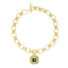 Julie Vos Julie Vos Luxor Statement Necklace Sapphire Blue