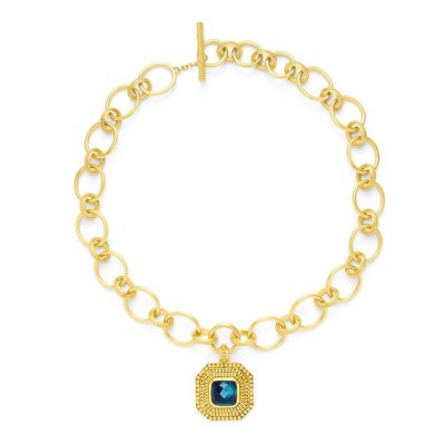 Julie Vos Julie Vos Luxor Statement Necklace Sapphire Blue