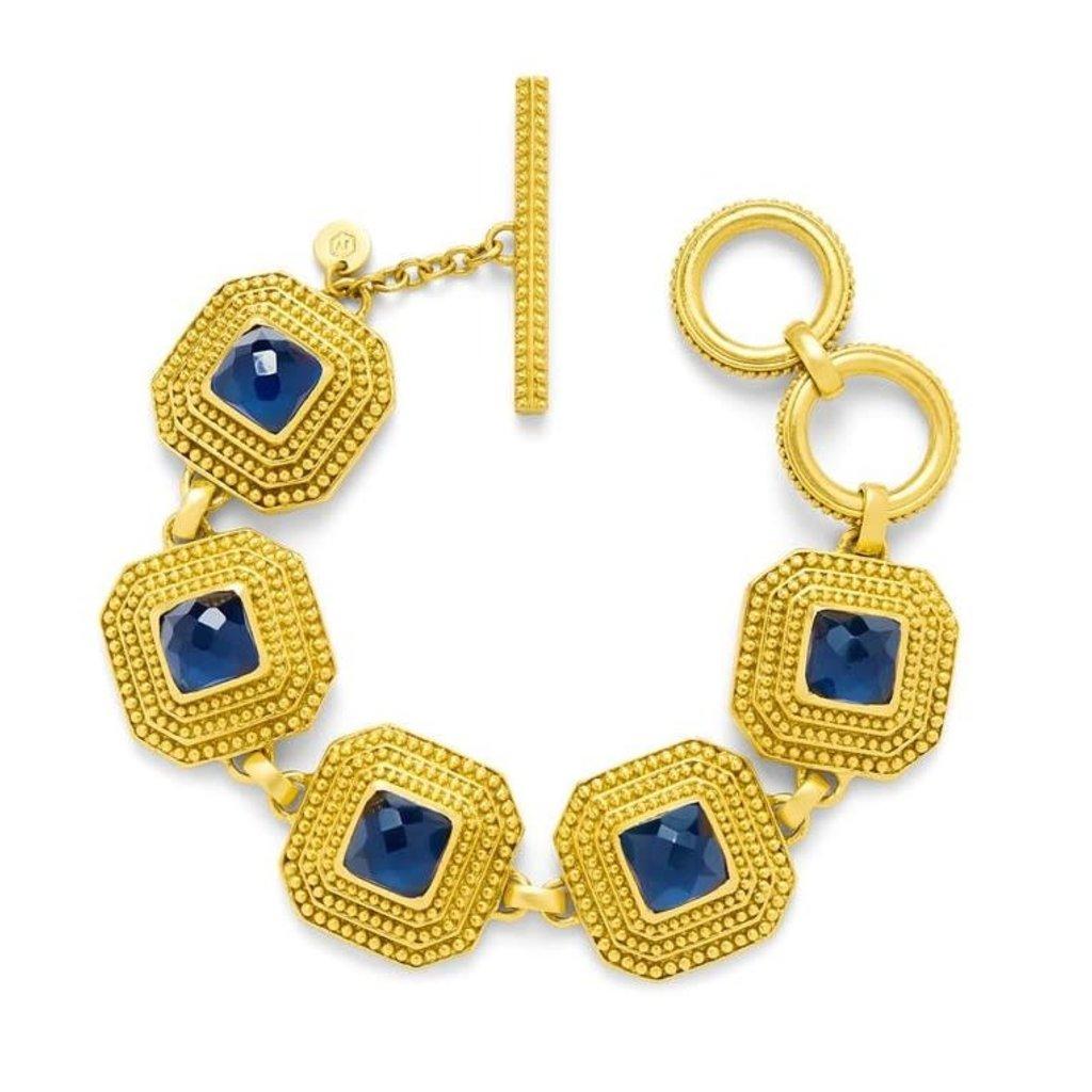 Julie Vos Julie Vos Luxor Bracelet Sapphire Blue