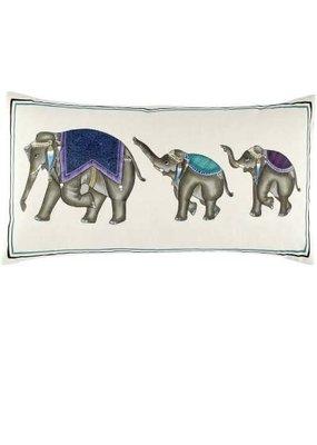 John Robshaw Textiles John Robshaw Elephant Family Decorative Pillow - INSERT SOLD SEPARATELY