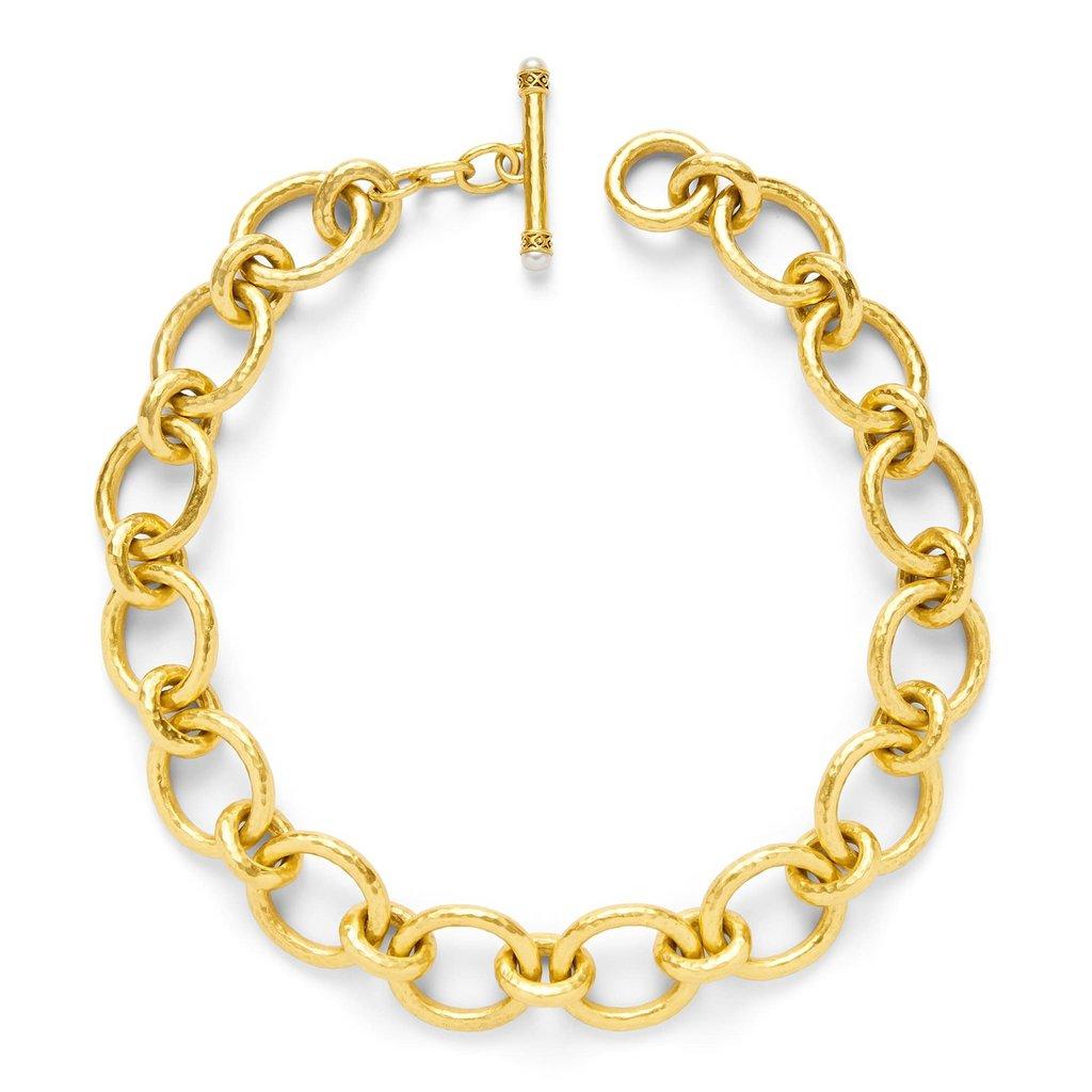 Julie Vos Julie Vos Catalina Large Link Necklace Pearl