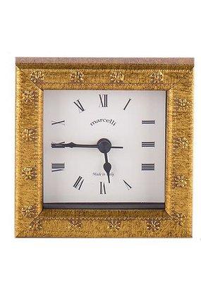 Galassi Marcelli Thin Gold Daisy Clock 4x4