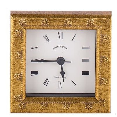 Galassi Marcelli Thin Gold Daisy Clock 4x4