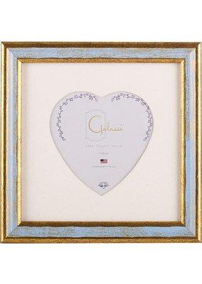 Galassi Galassi Traditional Frame Blue/Gold w/3x3 heart mat