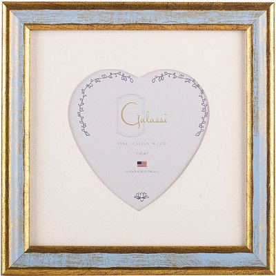 Galassi Galassi Traditional Frame Blue/Gold w/3x3 heart mat