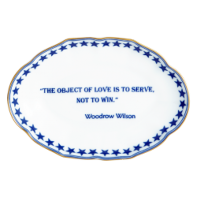 Mottahedeh Mottahedeh Verse Tray The Object of Love - Woodrow Wilson
