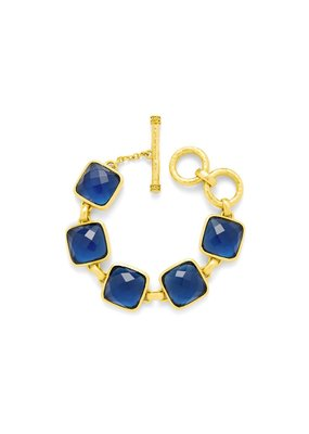 Julie Vos Julie Vos Catalina Stone Bracelet Sapphire Blue