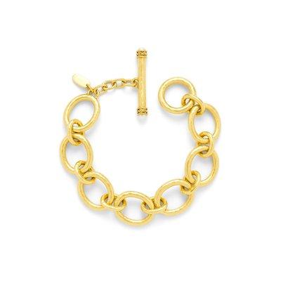 Julie Vos Julie Vos Catalina Small Link Bracelet Pearl Toggle