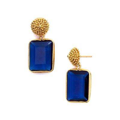 Julie Vos Julie Vos D'Argent Earring Sapphire Blue