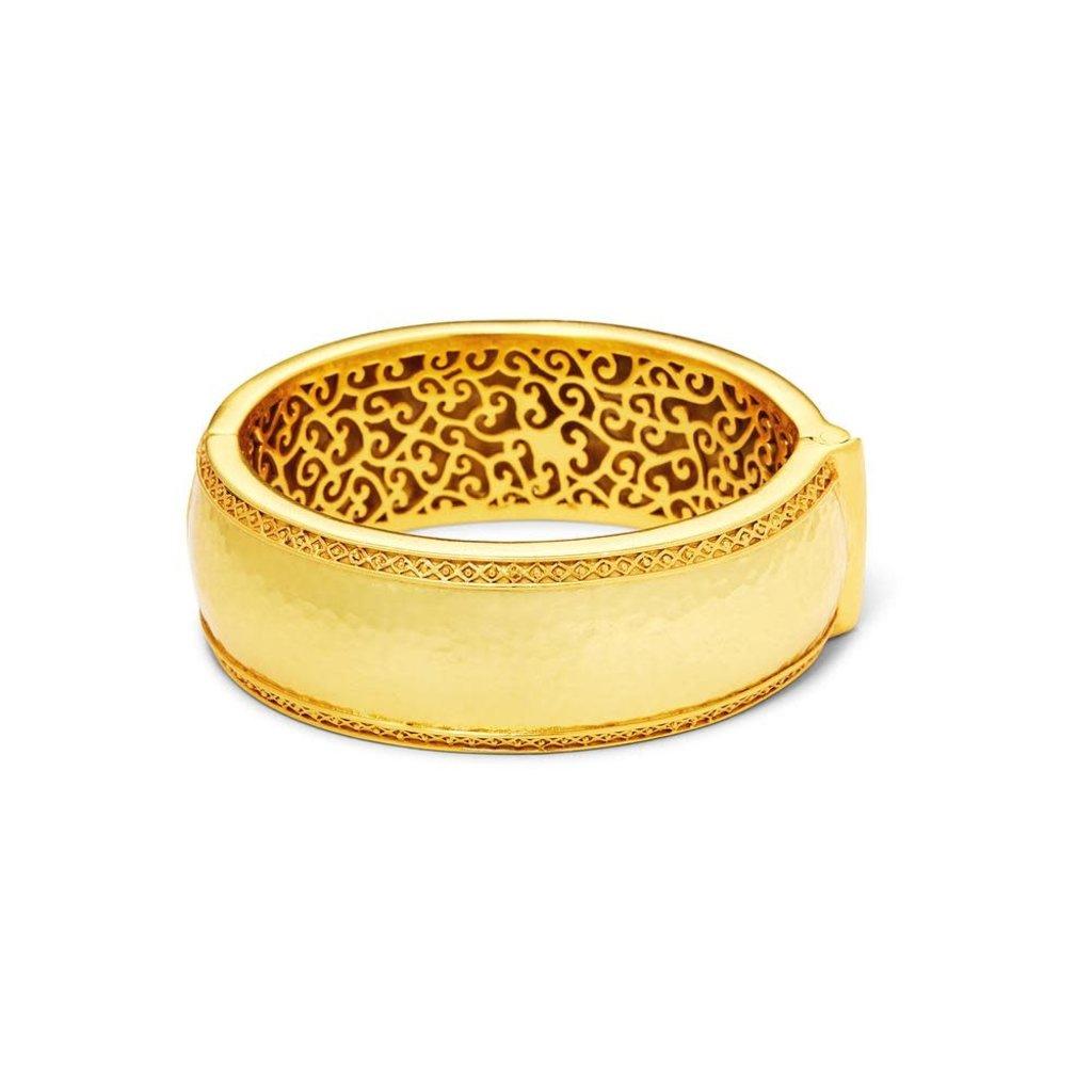 Julie Vos Julie Vos Catalina Statement Hinge Bangle Bracelet Gold