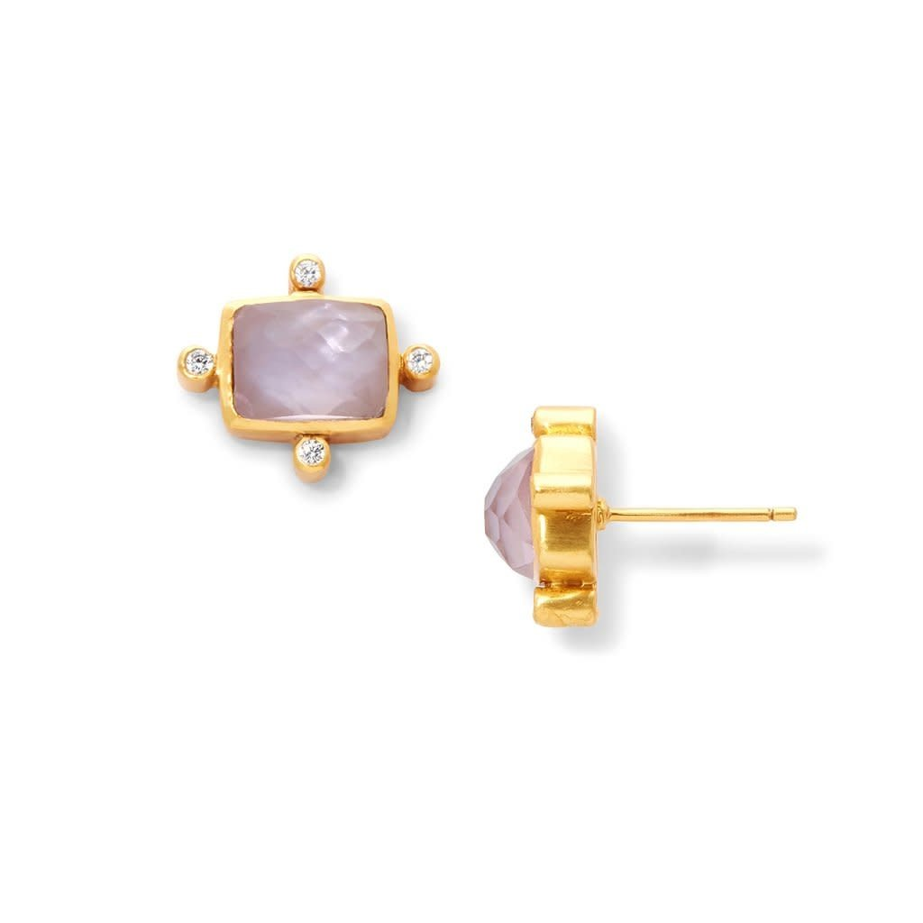Julie Vos Julie Vos Clara Stud Earring Rose