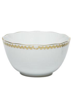 Herend Herend Golden Laurel Round Open Vegetable Bowl