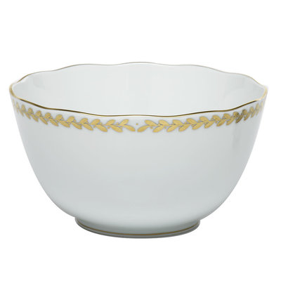 Herend Herend Golden Laurel Round Open Vegetable Bowl