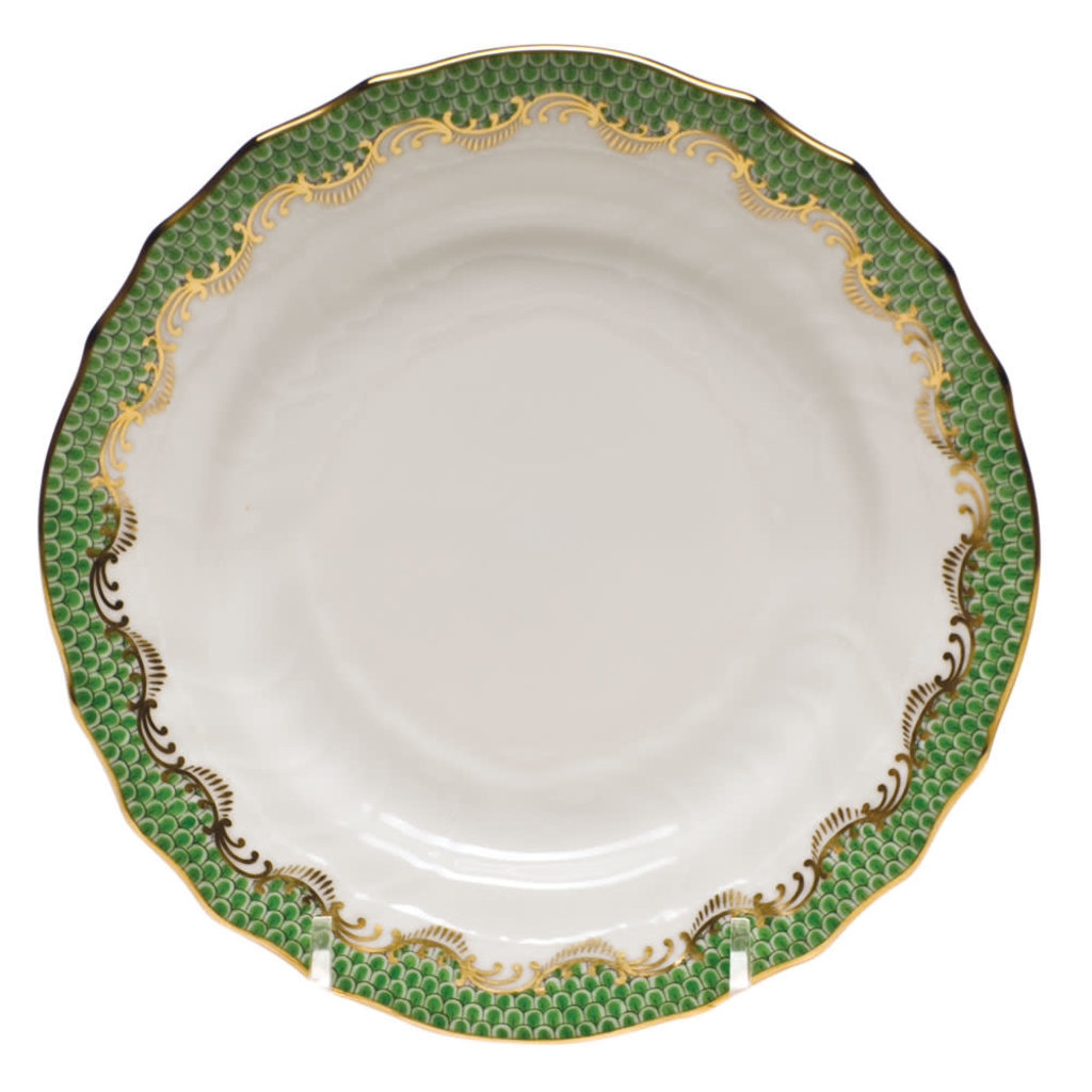 Herend Herend Fishscale Dessert Plate- Evergreen
