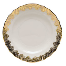 Herend Herend Fishscale Dessert Plate- Gold