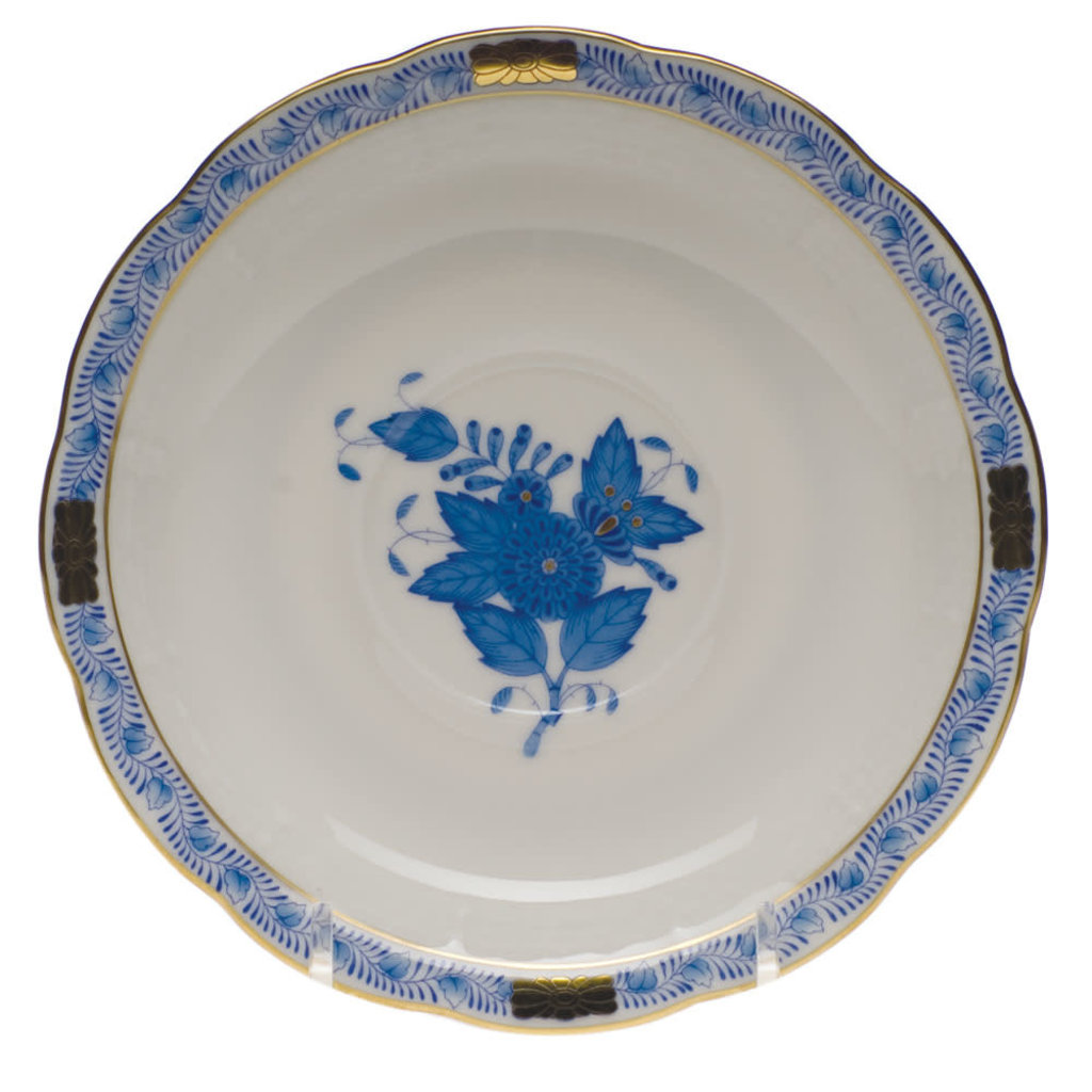 Herend Herend Chinese Bouquet Tea Cup & Saucer- Blue