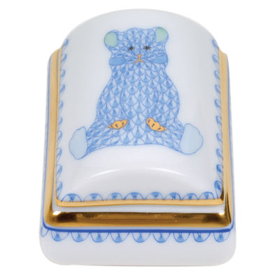 Herend Herend Tooth Fairy Box-Blue
