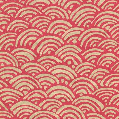 Caspari CASPARI LULU'S RAINBOW-RED/GOLD FOIL CONTINUOUS WRAP ROLL - 8 FT