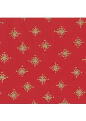 Caspari CASPARI STARRY RED CONTINUOUS GIFT WRAP ROLL - 8 FT