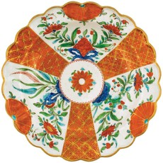 Caspari CASPARI ORANGE FLORAL DIE CUT PLACEMAT