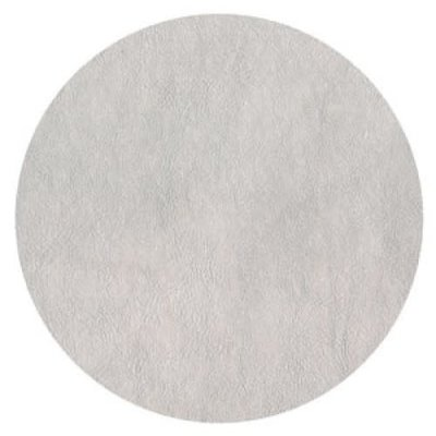 Caspari CASPARI SILVER LEATHER ROUND PLACEMAT