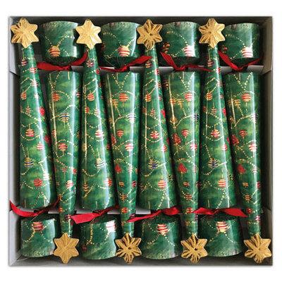 Caspari CASPARI GLITTERING TREE CHRISTMAS CONE CRACKERS