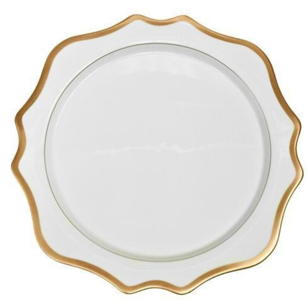 Anna Weatherley ANNA WEATHERLEY ANTIQUE WHITE/GOLD DINNER PLATE