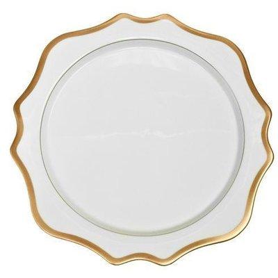Anna Weatherley ANNA WEATHERLEY ANTIQUE WHITE/GOLD DINNER PLATE