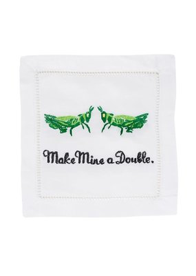 August Morgan August Morgan S/4 Cocktail Napkins -Make Mine A Double