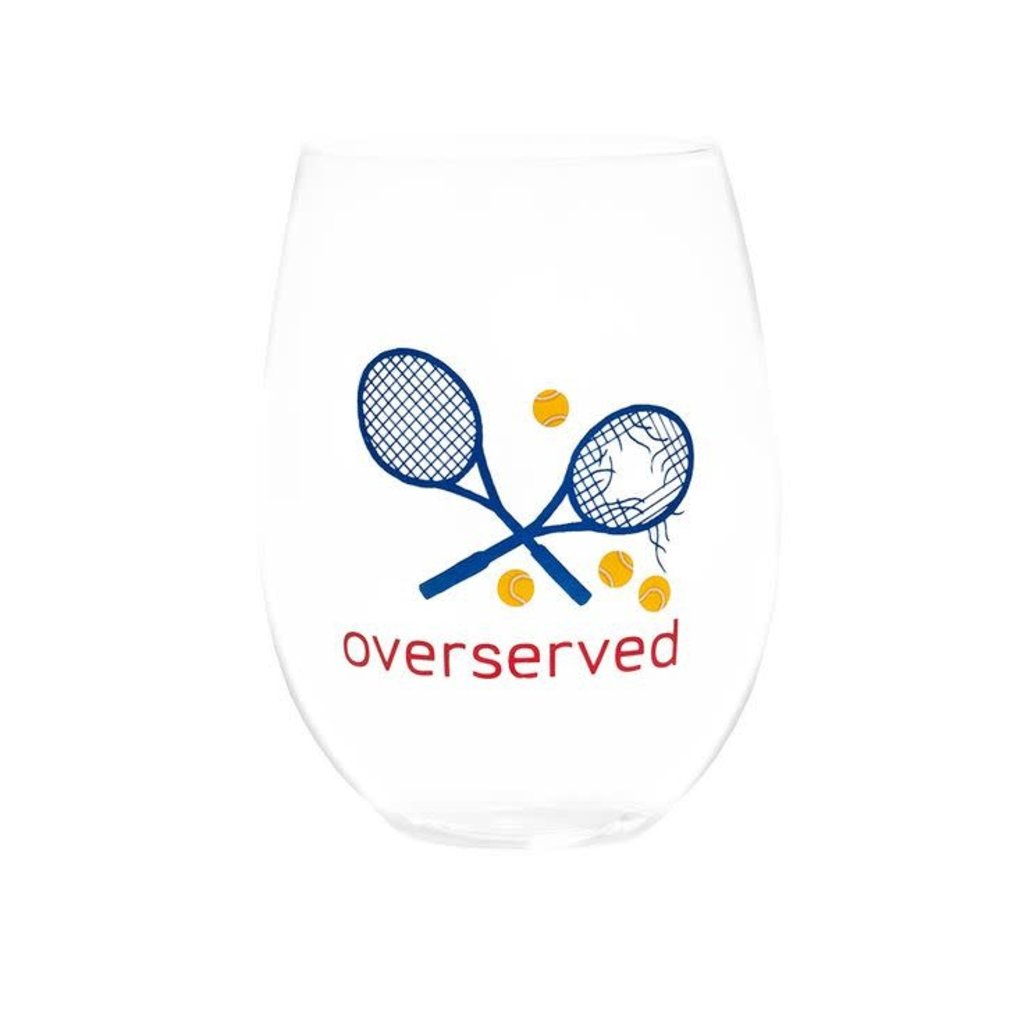 August Morgan August Morgan S/4 Stemless Wine Glasses -Overserved (Pink)