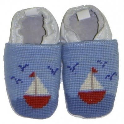 Sailboat Baby Bootie