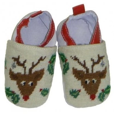 Rudolph Baby Bootie