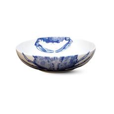 """Caskata Caskata Crab Low- Profile Soup Bowl- Blue 7.5"""""""