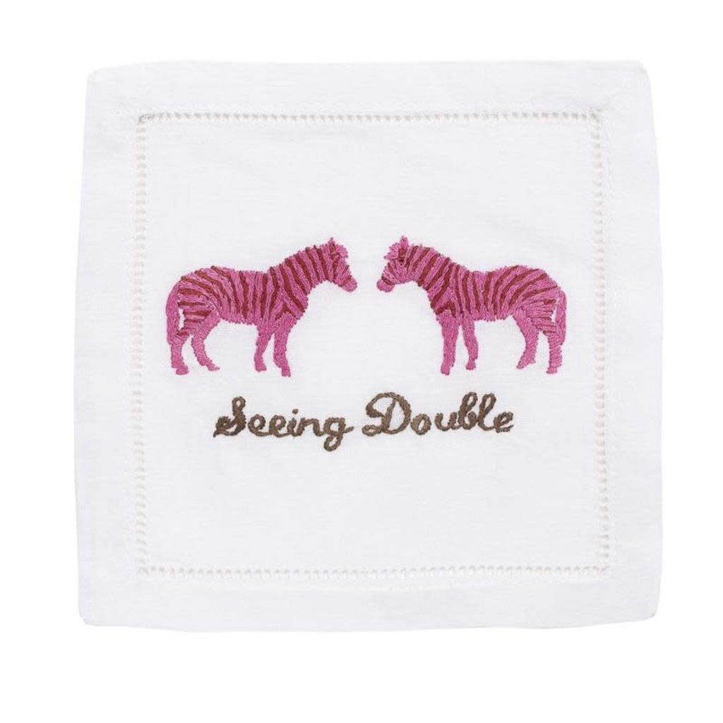 August Morgan August Morgan S/4 Cocktail Napkins -Seeing Double