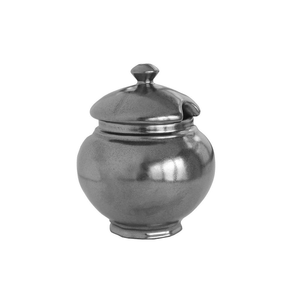 Juliska Juliska Pewter Stoneware Lidded Sugar Bowl