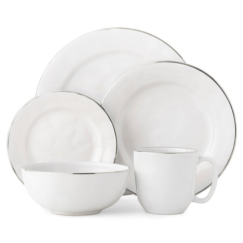 Juliska Juliska Puro Ice Cream/Cereal Bowl- Whitewash w/Platinum Rim