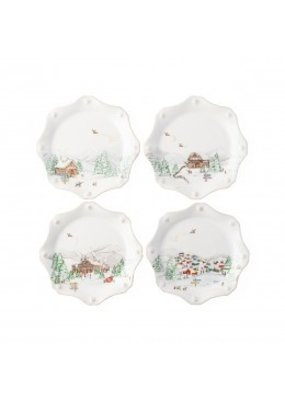 Juliska Juliska B&T North Pole Scalloped Dessert/Salad Plate - Set of 4