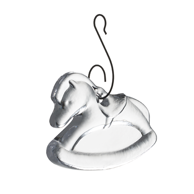 Simon Pearce Simon Pearce Rocking Horse Ornament in G/B