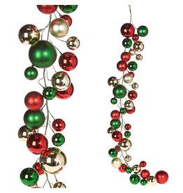 RAZ Imports 4' CHRISTMAS BALL GARLAND