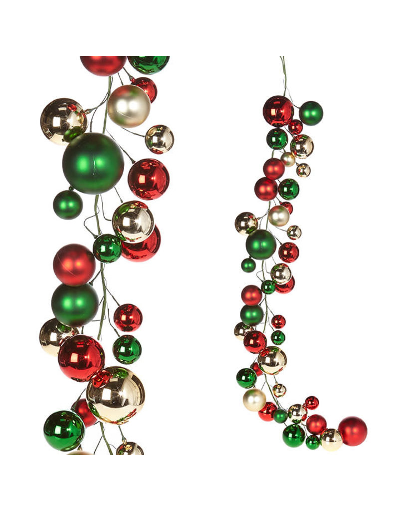 Christmas Ball Garland.Raz Imports Raz Imports 4 Christmas Ball Garland