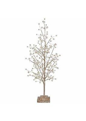 """RAZ Imports RAZ IMPORTS 22"""" GLITTER TREE W/ PEARLS"""