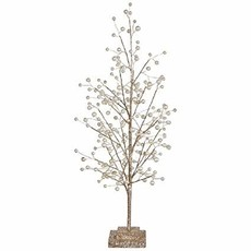 """RAZ Imports RAZ IMPORTS 33"""" GLITTER TREE W/ PEARLS"""