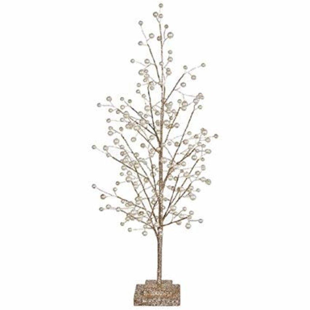 """RAZ Imports RAZ IMPORTS 27.5"""" GLITTER TREE W/ PEARLS"""