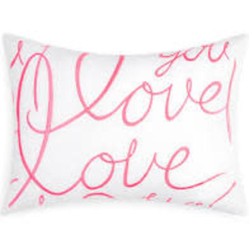 Matouk Matouk Lulu DK Love Pillow, blue- Discontinued