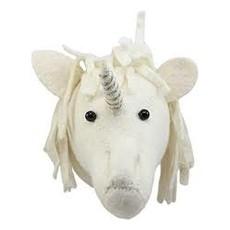 Fiona Walker Fiona Walker Baby Unicorn Head Gold/Silver Trim