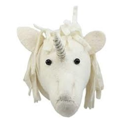 Fiona Walker Fiona Walker Baby Unicorn Head Gold/Silver Trim
