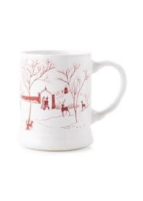 "Juliska Juliska CE Winter Frolic ""Mr. & Mrs. Claus"" Ruby Mug"