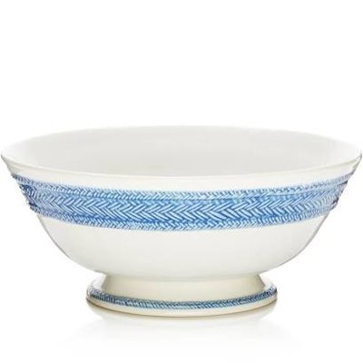 Juliska Juliska Le Panier Footed Fruit Bowl White/Delft